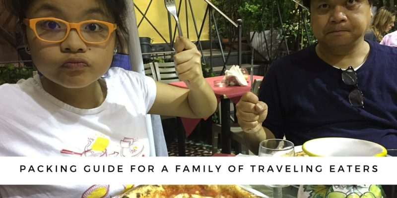 Packing guide for a family of traveling eaters via @DishOurTown