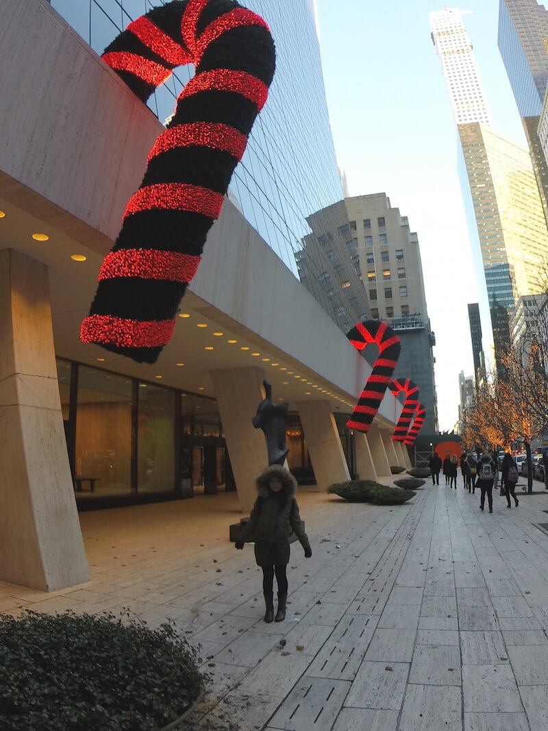 Christmas Candy Cane in NYC