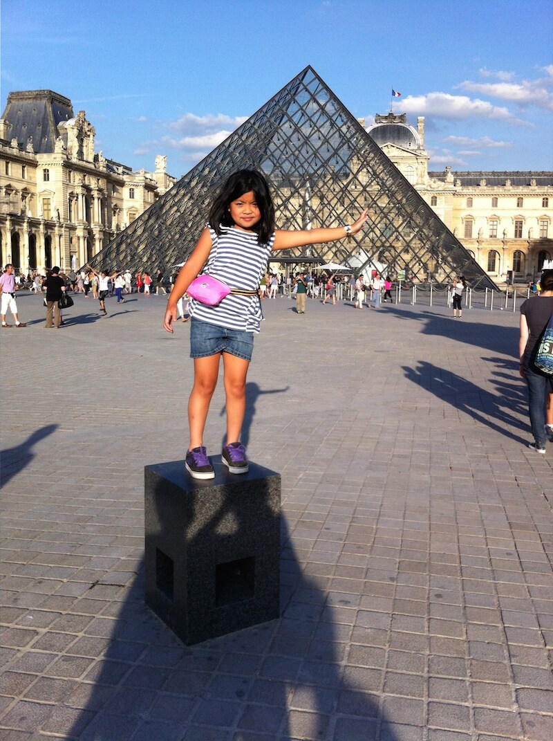 At the Louvre Summer 2012 via @DishOurTown