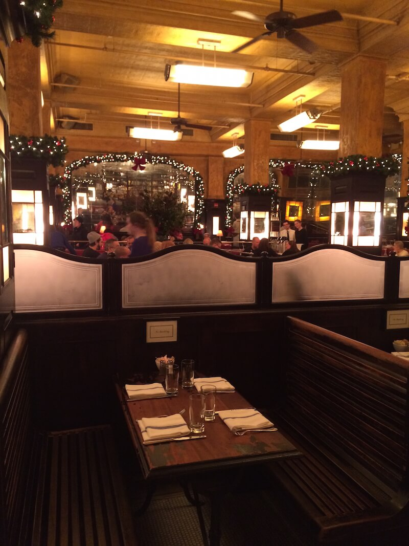 Christmas time in Balthazar NYC