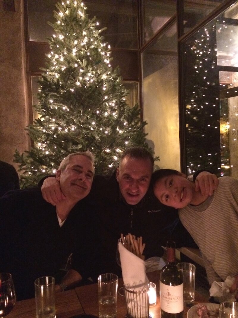 Christmas Dinner at Peasant with friends.