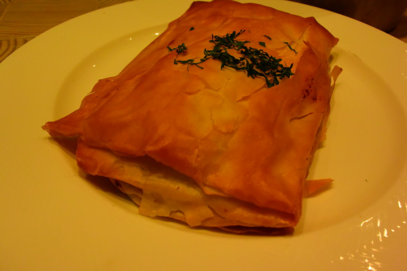 homemade spanakopita at Pylos in NYC | Dish Our Town