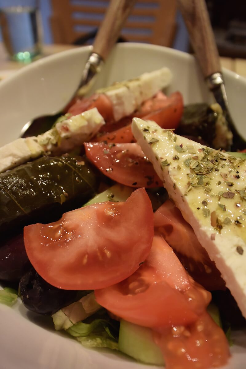 Greek Salad At Pylos NYC |Dish Our Town