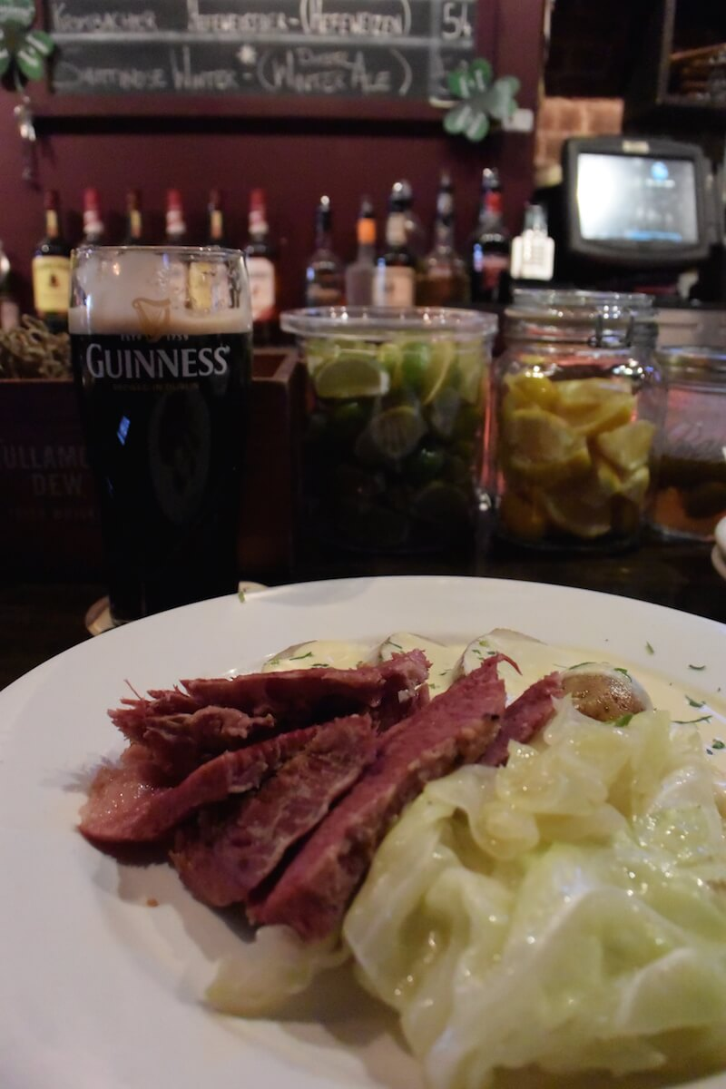 Corned Beef and a Guinness at Slainte in NYC | Dish Our Town