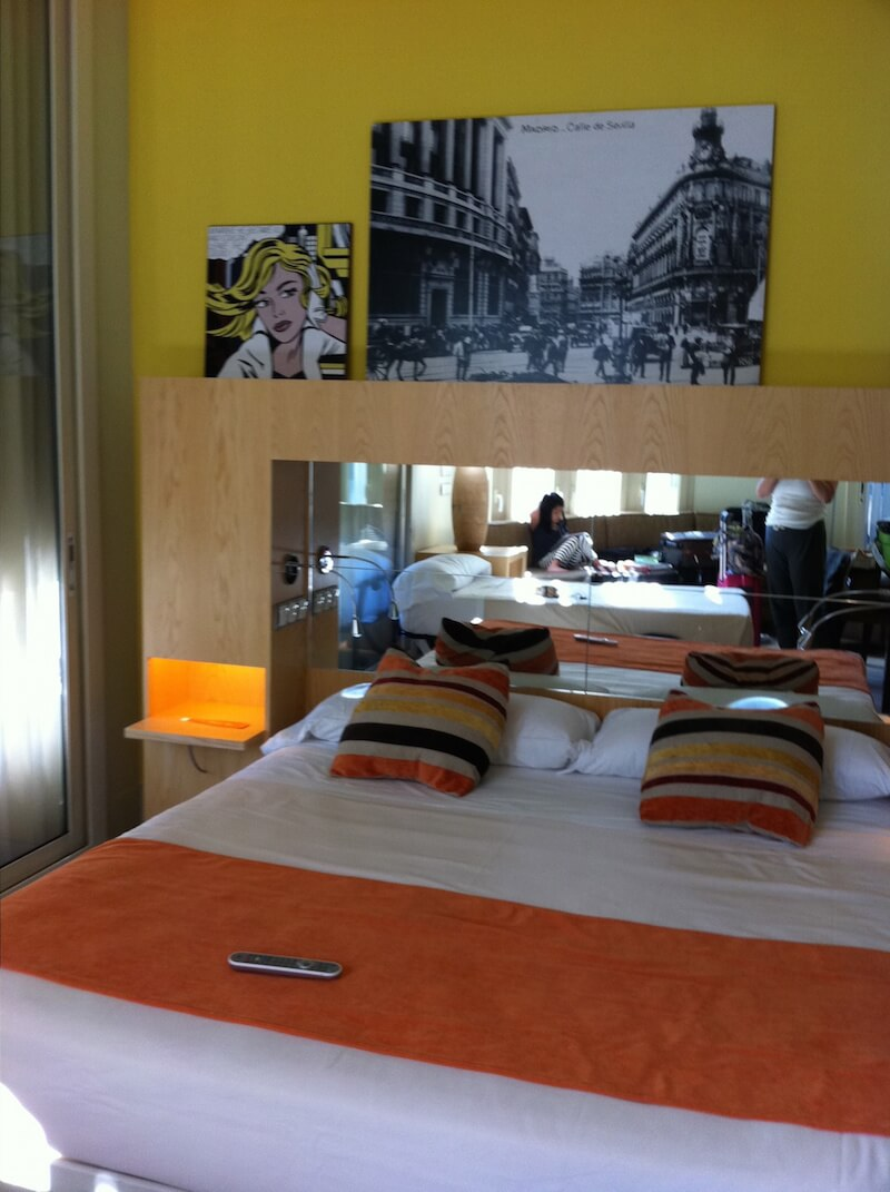 Corner Room at RoomMate Alicia Hotel in Madrid | Dish Our Town