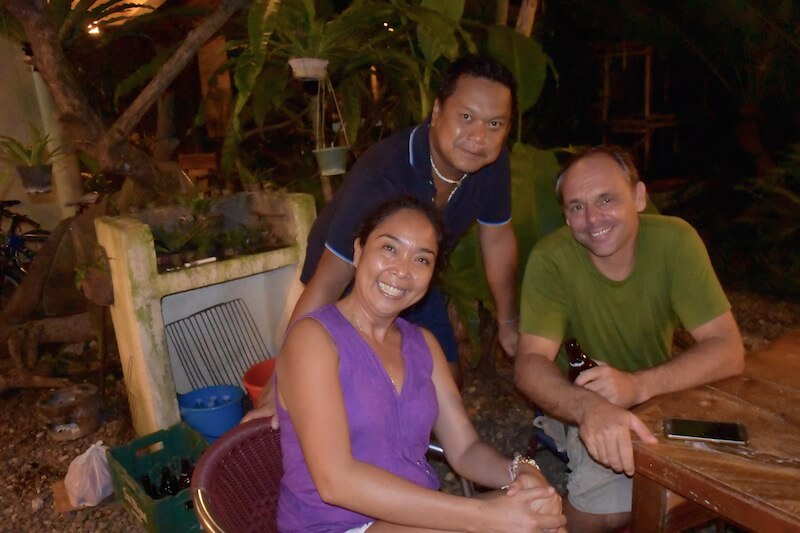 Dian and Hans from Blue Bayou Bungalows in Boracay with Andrew | Dish Our Town