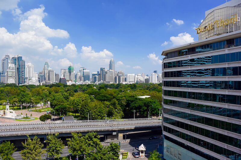 Dusit Thani View from Our Room - a review   DishOurTown