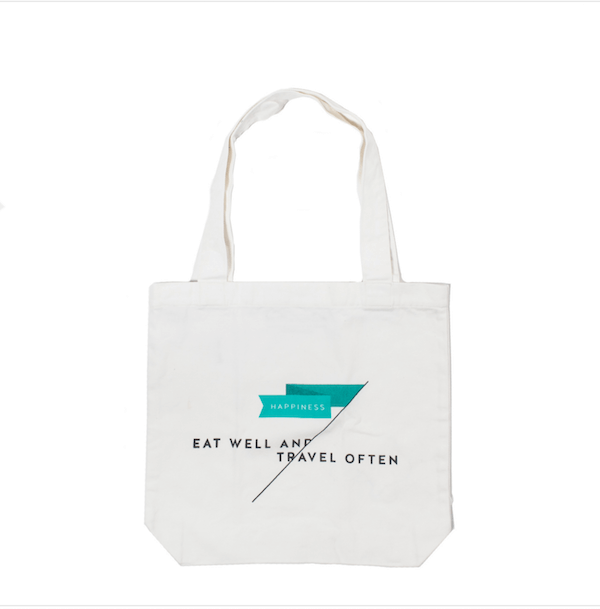 Eat Well/ Travel Often Tote