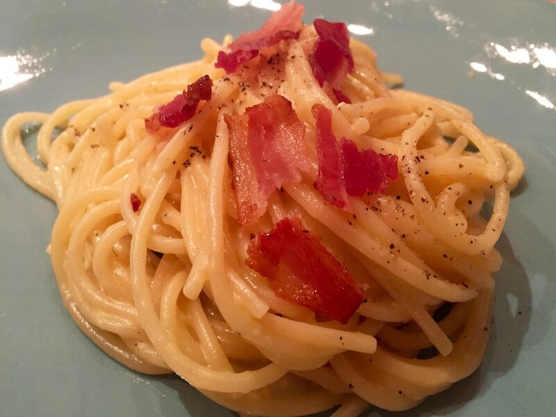Easy Carbonara Recipe via @DishOurTown