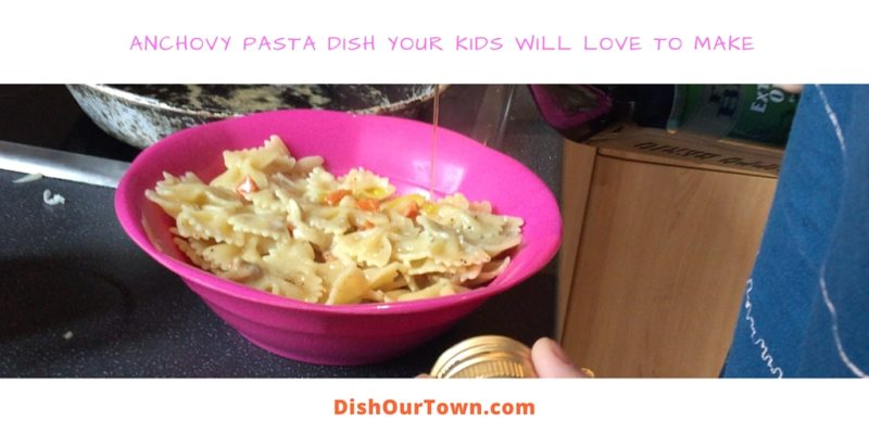 Anchovy Pasta Dish Your Kids Will Love to Make via @DishOurTown