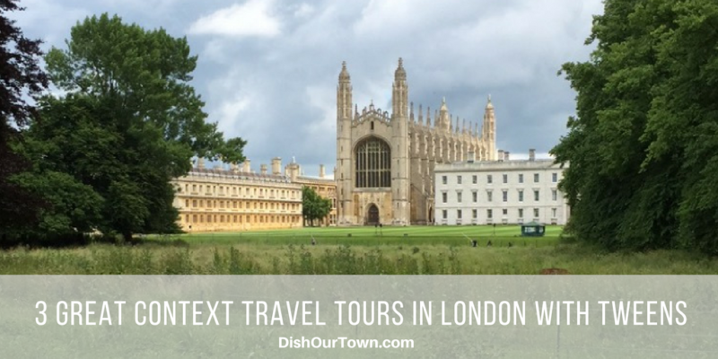 3 Great Context Tours to take with tweens in London