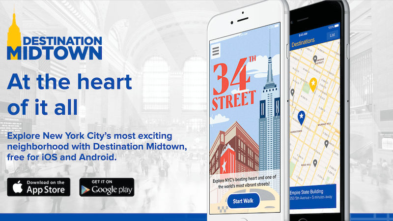 Destination Midtown App for NYC with @DishOurTown