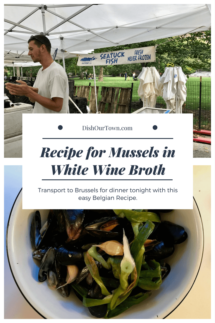 Mussels in White Wine Broth #recipe via @dishourtown