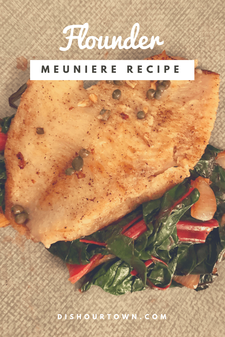 Tonight, let's visit #brussels with this #flounder meuniere #recipe via @DishOurTown
