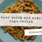 Quick and Simple Ragu Recipe