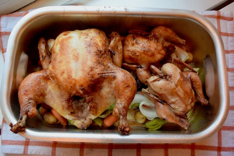Easy #RoastHens (Chicken) #Recipe inspired by Arles & @CkMondaviWines' #Chardonnay via @DishOurTown