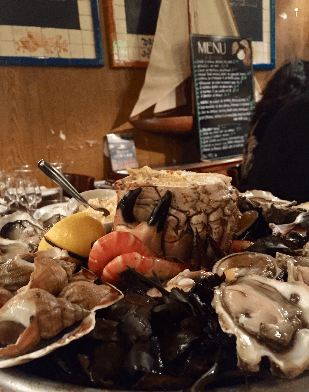 Seafood Platter from L'ecailler Du Bistrot in Paris with @dishourtown