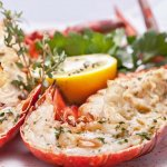 Lobster a Must-Eat in Portland Baked Stuffed Lobster Recipe via @dishourtown