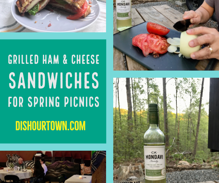 AD Grilled Ham & Cheese Sandwiches for a spring picnic with CK Mondavi & Family Wines. #ckmondaviambassadors #CKmondaviWines #sweepstakes #grilledcheese @ckmondaviwines