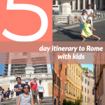 This is the perfect itinerary for Rome with kids. 5-Days in Rome with Kids and Where to Stay. #familytravel #kidswhotravel #Rome